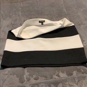 Black and white express mini skirt